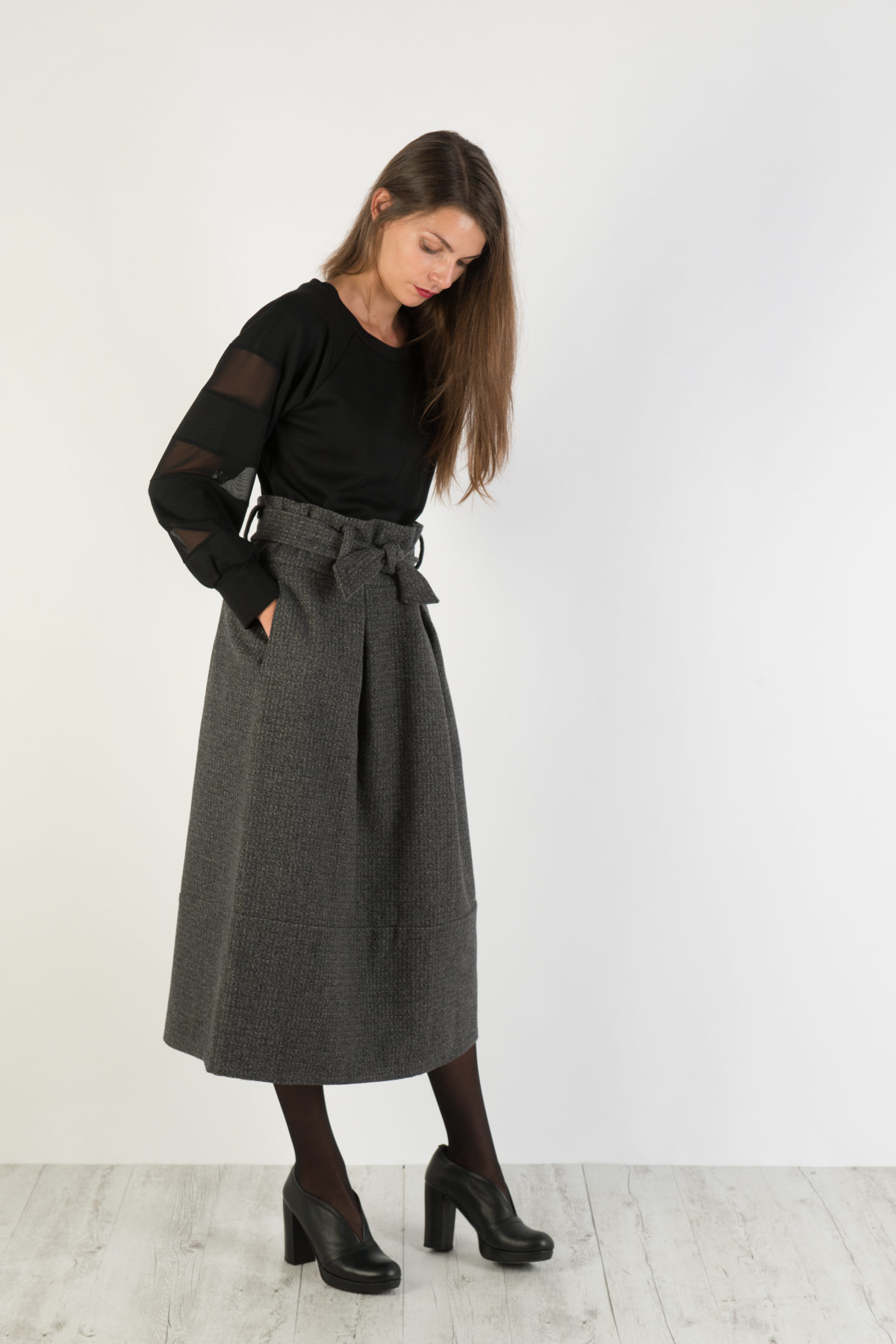 dettagliare 49102 b475c High waisted skirt Florie gonna con maxi pinces